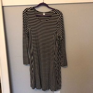 Old Navy Black and White Striped Maternity Dress